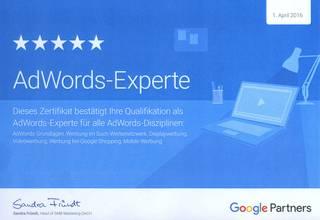 Wir haben zertifizierte Google Experten